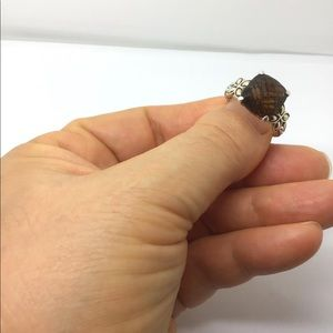 John Hardy smoky quartz sterling silver 18k ring